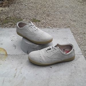 Born Cymbal White Suede Fashion Sneakers Sz. 10